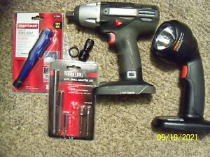 Craftsman C3 19.2-Volt 1/2-Inch Impact Wrench no battery no charger  & others