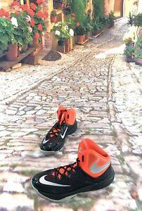 Nike Size 9 Men's PRIME HYPE DF II Basketball Shoes Salmon/Silver/Black