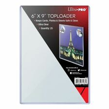 "(25) Ultra Pro 6x9 Toploaders 6"" x 9"" Topload Rigid Card Holders Photo Postcard"