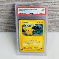 1x PSA 9 MINT -  Pikachu 84/144 Skyridge NON-HOLO Pokemon Card - LOW POP 31