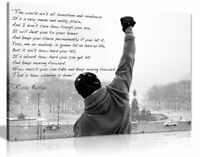 Rocky Canvas Print Hope Quote Canvas Wall Art Picture Print