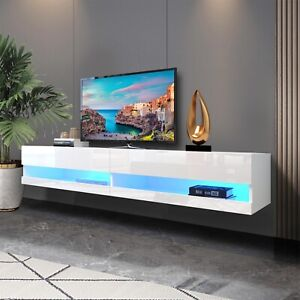180CM TV Stand Cabinet with LED Lights Entertainment Floating Wall Unit