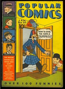 Popular Comics #24 Very Nice Early Golden Age Dick Tracy Dell Comic 1938 FN
