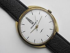 Rare Soviet USSR Brand VIMPEL RAKETA watch factory gold-plated case Cal 2609 HA