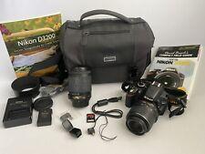 Nikon D3200 24.2MP Digital SLR Camera - FULL KIT DX II 18-55mm 55-200mm Extras