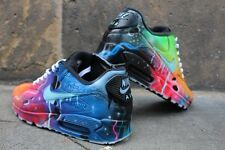 Custom Nike Air Max 90 Blue Galaxy Sneaker Airbrush Graffiti