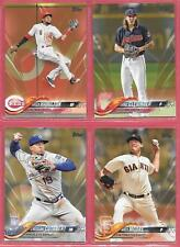 Lot of 5~2018 Topps GOLD~#'ed /2018~MIKE CLEVINGER~ANTHONY RENDON~MATT MOORE ++