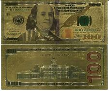 UNITED STATES 100 DOLLARS $100 COLORFUL 24K GOLD BANKNOTE BILL