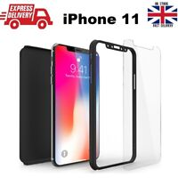 For iPhone 11 Pro Hybrid 360° Full Body Protective Case Cover + Tempered Glass