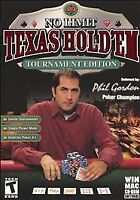Video Game PC No Limit Texas Hold'Em Tournament Edition phil Gordon NEW BOX