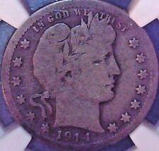 1914-S Barber Quarter NGC VG-10