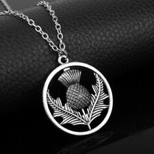 Outlander Scottish National Flower Necklace Scotland Thistle Pendant for Gifts