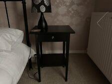 ikea hemnes bedside table Black / Brown