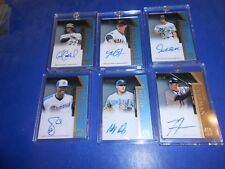 2011 TIER ONE SET GIANCARLO STANTON AU/BUMGARNER AU/RIZZO AU/FREEMAN AU/SALE AU