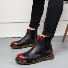 Ladies Couples Combat Motorcycle Ankle Boots Block Heels Pull On Casual Shoes