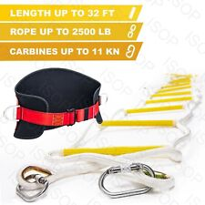 Emergency Fire Escape Rope Ladder 32ft 4 Story - Safety Ladders for Fire Escape