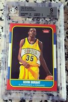 KEVIN DURANT 2007 Fleer 1986 SP Rookie Card RC BGS 9 9.5 10 HOT MVP GS Warriors