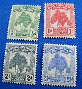 GILBERT & ELLIS ISLANDS 1911  -  SCOTT # 8-11  MH     (V2g1)