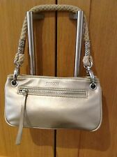 CUTE LITTLE METALLIC GOLD MORGAN SHOULDER BAG WITH ROPE STYLED HANDLE USED