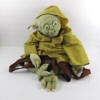 "Star Wars Yoda Backpack Plush 24"" Bag Lucasfilm Disney Parks"