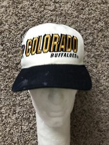 Vintage 90s Colorado Buffaloes Sports Specialties Laser Shadow Snapback Cap Hat
