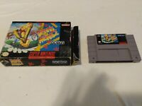 Dennis The Menace Game & Box for SNES Authentic Super Nintendo. Cleaned/Tested