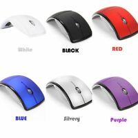 Foldable Arc 2.4GHz Optical Wireless Mouse + USB Receiver For PC Laptop Notebook