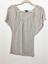 White House Black Market Women's Top Blouse Size Small  Gold Shimmer EUC A1