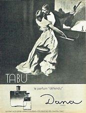 Publicité Advertising 087  1964  eau de Cologne  parfum Tabu de Dana