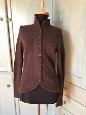 Ralph Lauren Black Label Brown Wool Cashmere Blazer Style Cardigan Sweater sz M