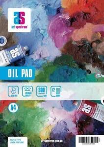 Art Spectrum OIL PAD A4 300gsm LINEN TEXTURE 12 Sheets Acid Free Painting