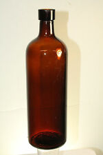 Antique Amber Blown In Mold Abilena Natural Cathartic Warter Bottle.