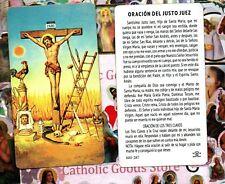 Justo Juez - Oracion del Justo Juez - Spanish  - Paperstock Holy Card