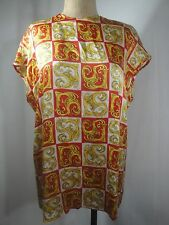 ST JOHN 100% Silk Blouse Size 12