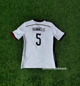 GERMANY NATIONAL TEAM 2014 2015 #5 HUMMELS FOOTBALL SOCCER SHIRT JERSEY BOYS