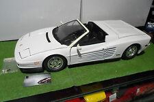 FERRARI  TESTAROSSA Spider cabriolet blanc monté au 1/8 POCHER voiture miniature