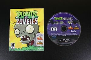 Plants vs. Zombies (Sony PlayStation 3 PS3, 2011) DISC AND MANUAL ONLY