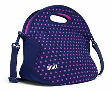 NEW BUILT NY-SPICY RELISH LUNCH TOTE - MINI DOT NAVY - $39