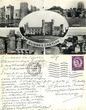 s07399 Castles, Sussex, England RP postcard posted 1963 stamp
