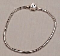 """Sterling Silver Charm Bracelet 7 3/4"""" for Charm Bracelet Beads or Charms"""