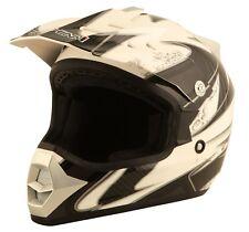 Duchinni D301 Gun White Full Face MX Youth Motorcycle Crash Helmet Brand New