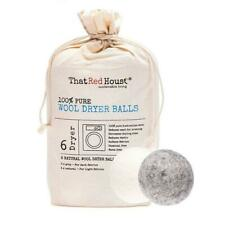 THAT RED HOUSE Wool Dryer Balls 100% Pure 6