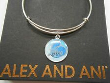 Alex and Ani Art Infusion Love Bangle Bracelet Shiny Silver NWTBC
