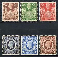 GB KGVI 1939-48 High Values Set of 6 Superb MNH SG 476/478c Cat £425