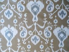 Java by Magnolia Fabrics in Umber, an Ikat style decorator print on cotton