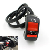 Universal Motorcycle Handlebar Mount ATV Dirt Bike Kill ON-OFF Button Switch