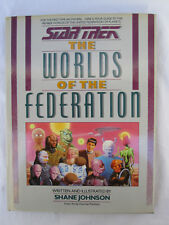 Star Trek The Worlds of the Federation 1989 Hc/Dj
