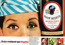 PUBLICITE ADVERTISING  1966   NEGRITA   rhum OLD NICK  ( 2 pages)