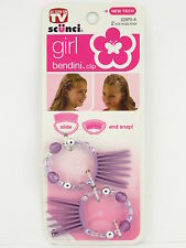 SCUNCI GIRL BENDINI HAIR CLIP - PURPLE - 2 PCS.  (22970-A4)