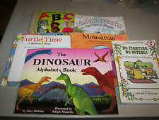 Lot of 6 Children's Books ABC, Turtle Time, No Fighting No Biting, Bubble Bubble